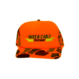 Wire And Cable Your Way Orange Camo Hunters Cap