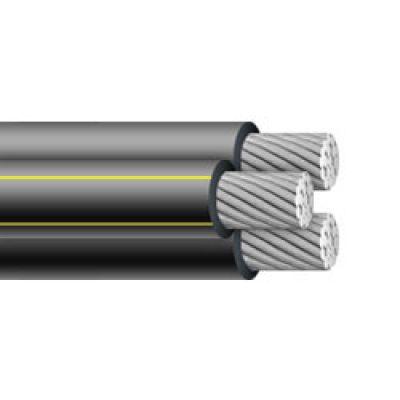 200/' Bergen 1//0-1//0-1//0 Triplex Aluminum URD Cable Direct Burial Wire 600V
